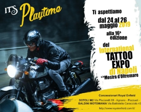"Royal Enfield e DotoliM2 al ""Tattoo Expo"" di Napoli"